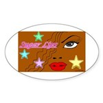 Suger Lips Oval Sticker
