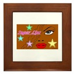 Suger Lips Framed Tile