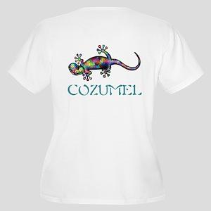 Gecko Women's Plus Size V-Neck T-Shirt