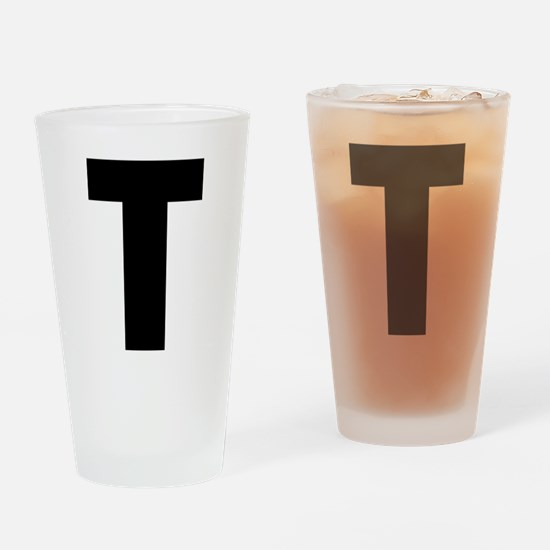 Letter T Drinking Glass