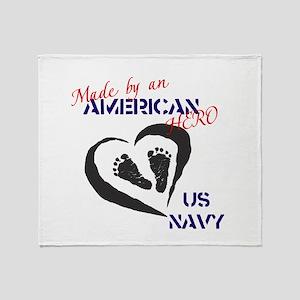 Made by American Hero - Navy Throw Blanket