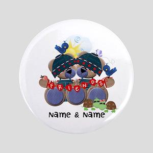 """Customizable Bear Friends 3.5"""" Button"""