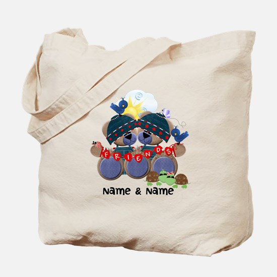 Customizable Bear Friends Tote Bag