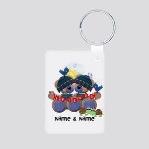 Customizable Bear Friends Aluminum Photo Keychain