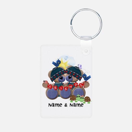 Customizable Bear Friends Keychains