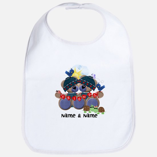 Customizable Bear Friends Bib