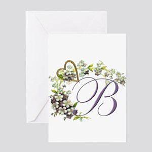 """Letter """"B"""" Greeting Card"""