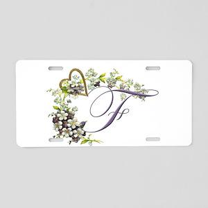 letter F Aluminum License Plate