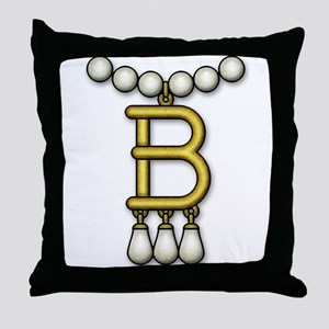 3-Betty Necklace Throw Pillow