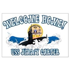 Welcome USS Carter! Large Poster