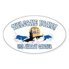 Welcome USS Carter! Sticker (Oval)
