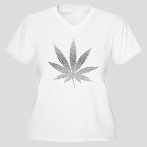 Nom de Pot Women's Plus Size V-Neck T-Shirt