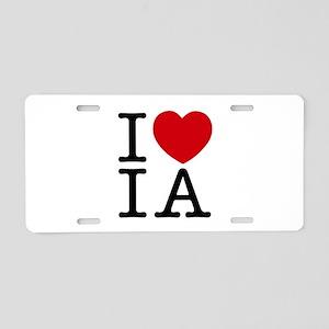 I Heart Iowa Aluminum License Plate