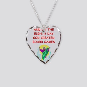 board games Necklace Heart Charm