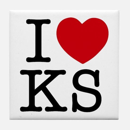 I Heart Kansas Tile Coaster
