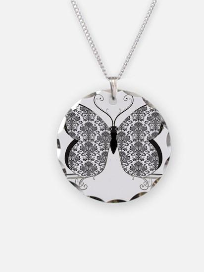 Damask Butterfly Necklace