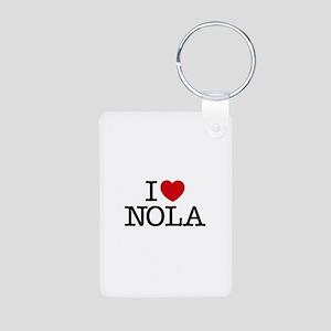 I Heart New Orleans Aluminum Photo Keychain