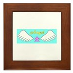 Pink Angel Framed Tile