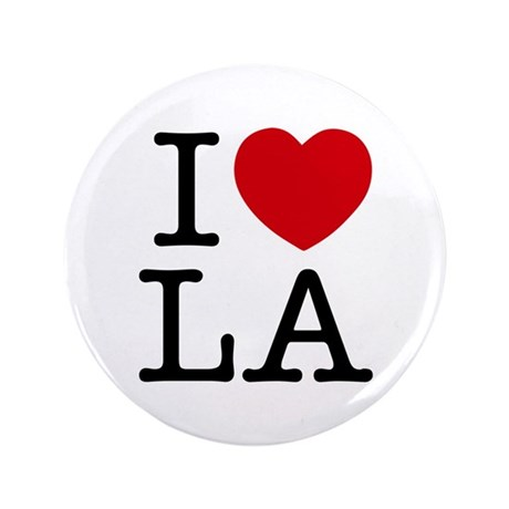 """I Heart Los Angeles 3.5"""" Button (100 pack)"""