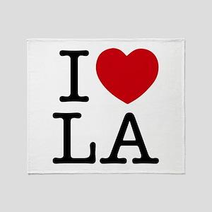 I Heart Los Angeles Throw Blanket