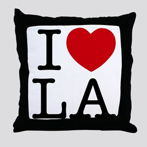 I Heart Los Angeles Throw Pillow