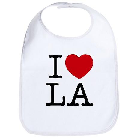 I Heart Los Angeles Cotton Baby Bib