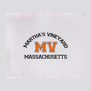 Martha's Vineyard MA - Map Design. Throw Blanket