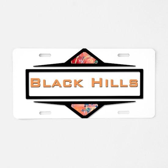 Unique Black hills Aluminum License Plate