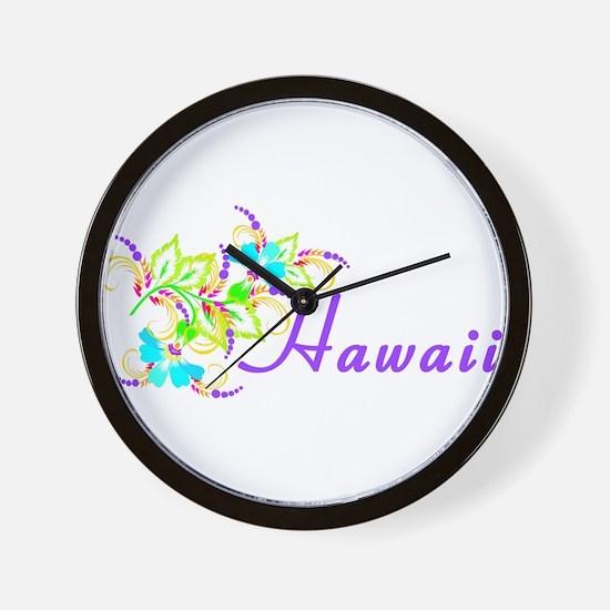 Cute Hawaii warriors Wall Clock