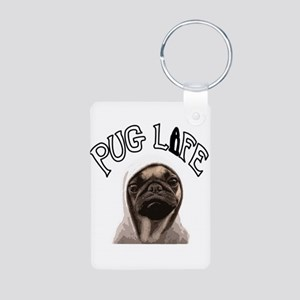 Pug Life Aluminum Photo Keychain
