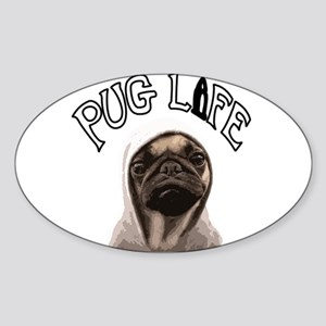 Pug Life Sticker (Oval)