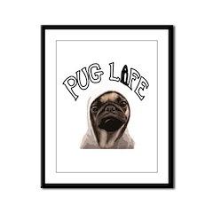 Pug Life Framed Panel Print