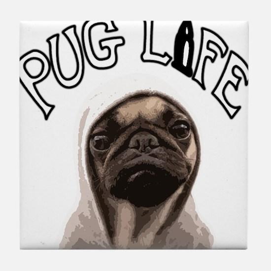 Pug Life Tile Coaster