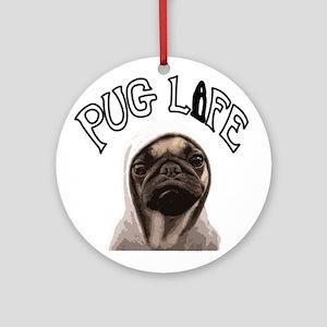 Pug Life Ornament (Round)