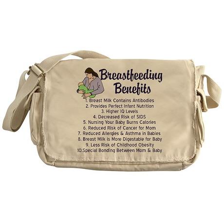 Breastfeeding Benefits Messenger Bag