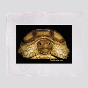 Baby Sulcata Tortoise Throw Blanket