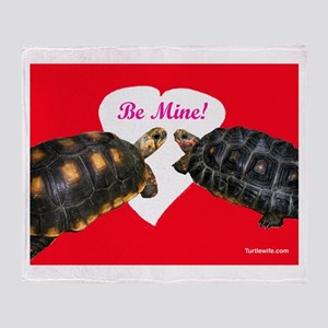 Be Mine Redfoot Tortoises Throw Blanket