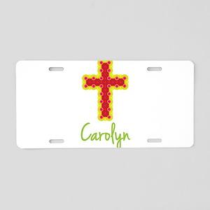 Carolyn Bubble Cross Aluminum License Plate