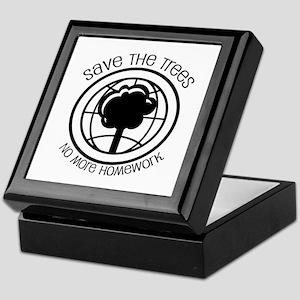 Save the Trees No More Homework Keepsake Box