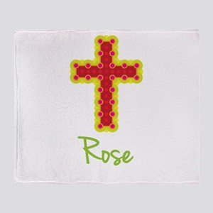 Rose Bubble Cross Throw Blanket