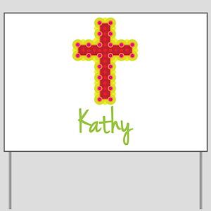 Kathy Bubble Cross Yard Sign