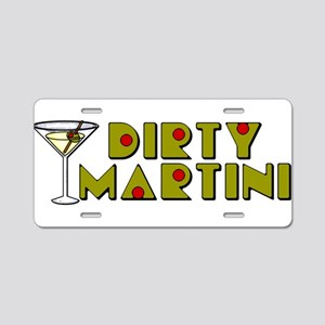 Dirty Martini Horizontal Aluminum License Plate