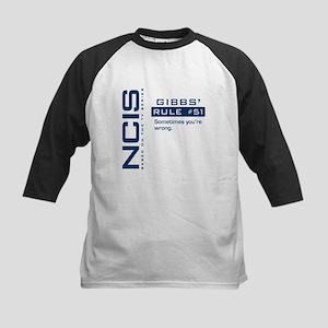 NCIS Gibbs' Rule #51 Kids Baseball Jersey