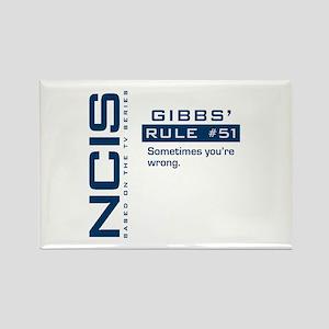 NCIS Gibbs' Rule #51 Rectangle Magnet