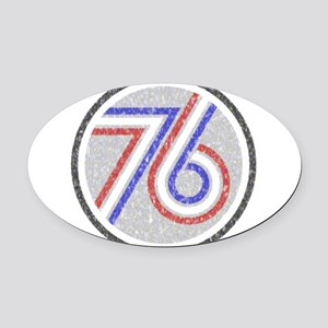 The Spirit of 76 Oval Car Magnet