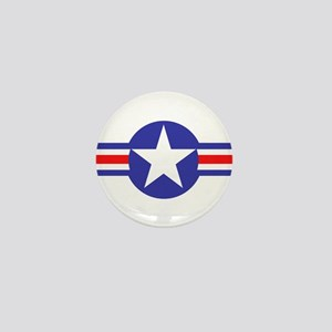Air Force Star and Bars Mini Button
