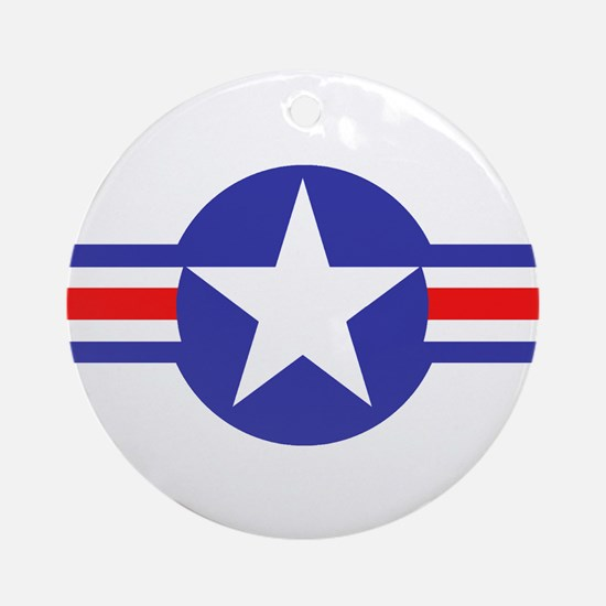 Air Force Star and Bars Ornament (Round)