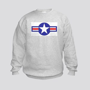 Air Force Star and Bars Kids Sweatshirt