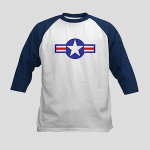 Air Force Star and Bars Kids Baseball Jersey