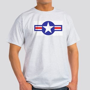 Air Force Star and Bars Ash Grey T-Shirt